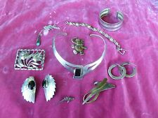 BOX LOT OF MOSTLY MEXICAN STERLING SILVER JEWELRY 4.5 TROY OUNCES
