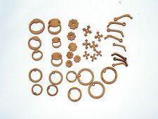 36 pc Kit Knobs Knockers & Handles for Fairy Doors interchangeable Parts 2D & 3D