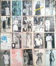 12)Lot de 20 Patron Mode des années 80