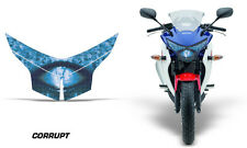 AMR Racing Head Light Eyes Honda CBR 250R 2010-2013 Headlight Parts CORRUPT BLUE