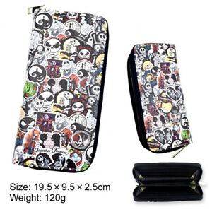 Men's Wallet The Nightmare Before Christmas Leather pu Wallet Card Holder Purse