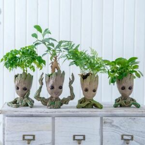Cute Cartoon Character Creative Flower Pot Groot Pen Holder Living Room Storage
