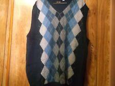 NWT Mens Sleeveless Sweater-Sz XXL-Axcess-100% Cotton-Argyle