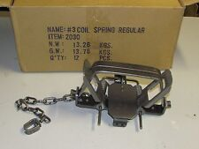 1 Bridger # 3 coilspring 2 Coil Spring Foothold Traps Coyote Fox Traps new sale