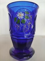 alter Jugendstil Ranftbecher Freundschaftsbecher Andenken Pokal blau antik Glas