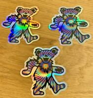 Grateful Dead Dancing Bears Holographic 3-pack Premium Sticker 3 in Jerry Garcia