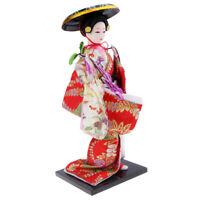 Exquisite Japanese Kimono Doll Kabuki Statue Geisha Figurine Home Decor #16