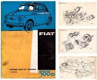 FIAT 500 D – CATALOGO  PARTI  DI RICAMBIO!