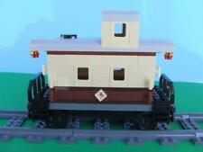 New Custom Built Train Caboose Built w/ New Lego Bricks fits 10194 Emerald Night