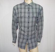 Polo Jeans Co. Ralph Lauren camicia uomo TG L maniche lunghe bianco e nero usata