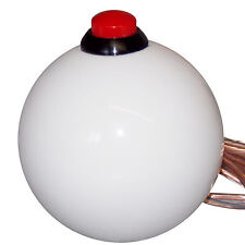 White 12V Button Shift Knob nitrous line lock 2 Hurst BM 7/16-20 thread