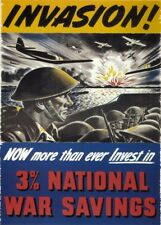 INVEST IN NATIONAL WAR SAVINGS British WW2 Propaganda Poster A3 250gsm