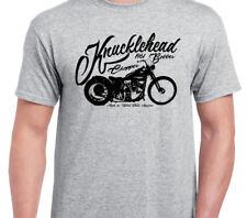 KNUCKLEHEAD BOBBER  INSPIRED VINTAGE MOTOBIKE CLASSIC BIKE shirt tshirt