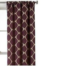 $70 Studio JCP Home Twist Rod Pocket Back Tab Window Curtain Panel 50 X 95 Plum