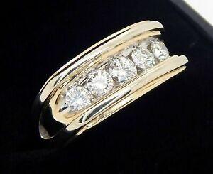 Men's 14K 1 Carat SI2 G Diamond Ring Size 9 1/2 9.8 Grams