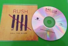 RUSH - R40 Live - ROLL THE BONES - PROMO CD - RARE!!!
