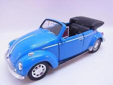 27628   Welly VW Käfer Beetle offen blau Modellauto m. Antrieb 1:40 Neu