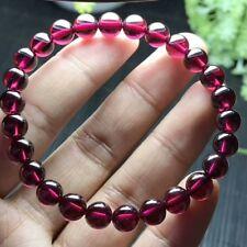Natural Red Garnet Crystal Round Beads Bracelet 7.2mm AAAAA CX#8