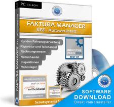 Faktura Manager Kfz Werkstatt Software Rechnungswesen,Autowerkstatt Programm EDV