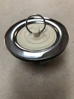 """New Mobile Home Parts 1-1/2"""" Metal Bathtub Drain with Gasket"""