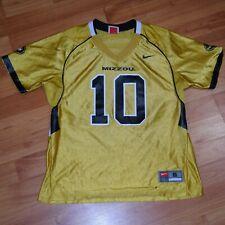 Nike University of Missouri Mizzou Tigers Womens Sz S Football Jersey Shirt Euc