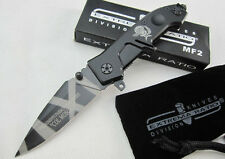 New EXTREMA RATIO MF2 Assisted opening Knife Super steel Folding Saber Tool Gift