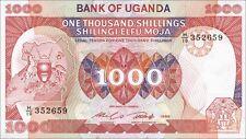 Uganda 1000 Shillings 1986 Pick 26 (1)