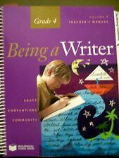 Being a Writer Teacher's Manual Grade 4 Vol 1 by Developmental Studies Center