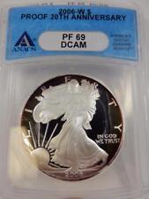 2006-W American Silver Eagle, ANACS PF69 DCAM, 20th Anniv., Proof,  #B107