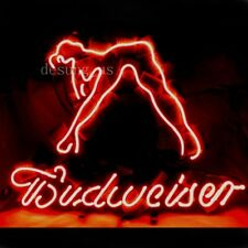 "New Budweiser Girl Live Nudes Lamp Light Artwork Neon Sign 24""x20"""