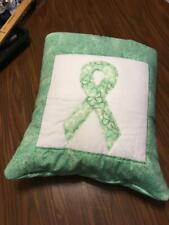 New Handmade Ovarian Cancer Ribbon Quillow (Pillow w/ 6ft long quilt inside)
