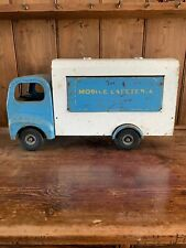 Triang Tin Metal Mobile Cafeteria Rare Truck Model For Cafe Pub Toy Florist Shop