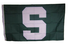 3x5 Big Green and White S Michigan State Flag 3'x5' Banner Brass Grommets
