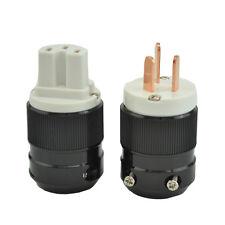 High Quality Pure red Copper AU Mains Power Plug Male Connector+IEC Female Plug