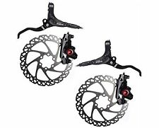 Clarks M2 Front and Rear Hydraulic MTB Hybrid Bike IS Disc Brake Set with 160...