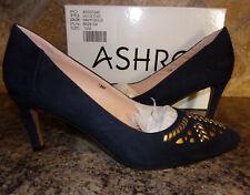 Ashro Black White Formal Dress Yamaya Pumps Heels Shoes Size 7.5 M Pump NEW