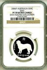 2006 S50c Australia Lunar Year Of The Dog 1/2 Oz NGC PF70 UC Pop = 1 Box COA OGP