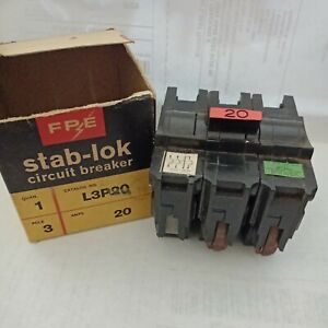 FEDERAL PACIFIC L3P20 3 POLE 20AMP TYPE NA CIRCUIT BREAKER W/ AUX / SHUNT?  NOS