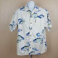 Columbia River Lodge Mens Casual Short Sleeve Shirt Size L Multicolor UB14