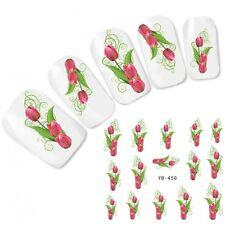 Nagel Sticker Nail Art Blumen Tulpe Aufkleber Flower Fuß Nägel Water Decal