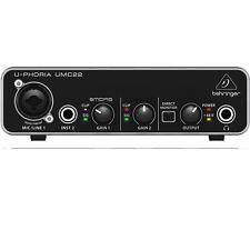 Behringer U-PHORIA UMC22 2x2 USB Audio Recording Interface