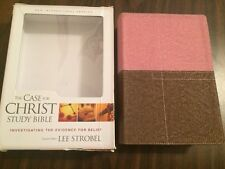 NIV 1984 Case for Christ Study Bible - Berry / Chocolate Duotone - OOP 84