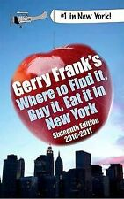 Gerry Frank's Where to Find It, Buy It, Eat It in New York 2010-2011-ExLibrary