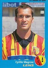 N°137 CYRILLE MAGNIER RC.LENS VIGNETTE PANINI FOOTBALL 96 STICKER 1996