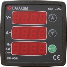 DATAKOM DM-0301 Painel de mímetro digital monofásico, fonte de alimentação 170-2
