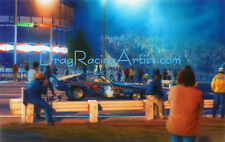 Welcome to the Jungle; Saturday Night at the OC...Drag Racing Art Print