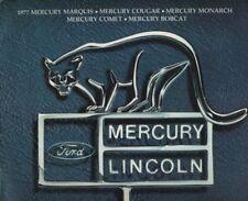 1977 Mercury 24-page Car Sales Brochure - Cougar Bobcat Marquis Comet Monarch