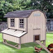 5'x6' Gambrel / Barn Chicken House / Coop Plans, 90506B