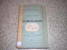 1885.problèmes et conclusions de l'histoire des religions / abbé de Broglie