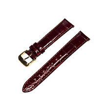 Speidel Premium 16mm Ladies Brown Alligator Grain Leather Watch Band w/ E-Z Pins